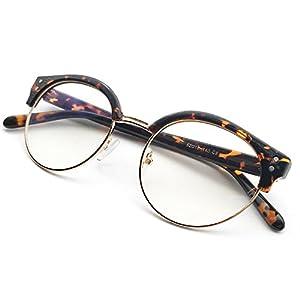 Anrri Blue Light Blocking Computer Glasses for UV Protection Anti Eyestrain Anti Glare Lightweight Frame, Reading Eyeglasses, Unisex (men/women)