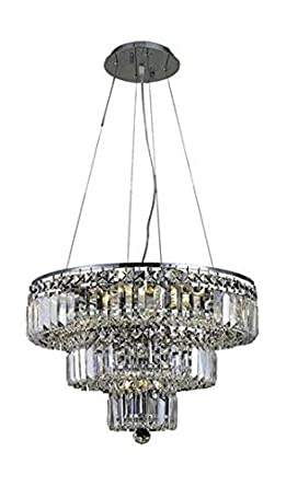 Amazon.com: Chantal Cromo Contemporáneo 9-Light Colgante de ...