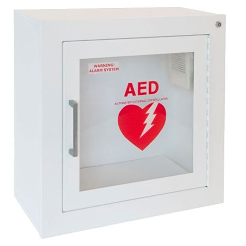 Steel AED Cabinet, Surface Mount, Audible Alarm by JL Industries / Activar