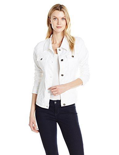 Riders by Lee Indigo Women's Stretch Denim Jacket, White, X-Large - Dress Denim Knit Stretch
