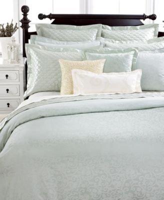 Trousseau Standard Sham (Martha Stewart Circa Cotton Jacquard Pillow Sham Green Standard)