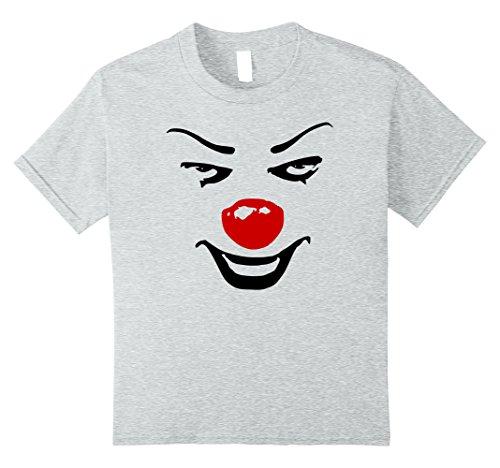 Kids Creepy Clown Halloween Costume t-shirt 8 Heather Grey