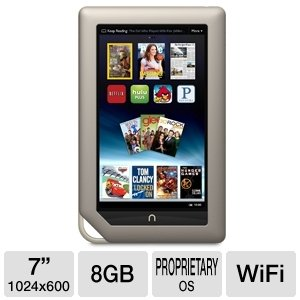 NOOK 7″ 8GB WiFi Tablet, Best Gadgets
