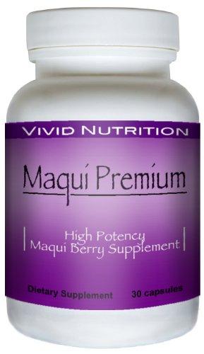 Maqui Premium - Haute Puissance, Super résorbable Maqui Berry supplément. Le régime entièrement naturel, Cleanse & Detox, produit Superfood antioxydant. MIEUX que Acai! (500mg - 30 Capsules)