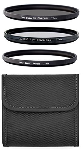 Marumi 77mm 3 Filter Set Super DHG ND1000 & CPL & Protect & Wallet made in Japan 77 MC EZ Clean for Heavy Use