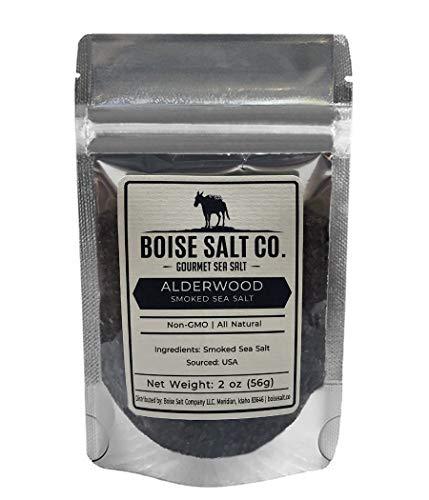 - Boise Salt Co. Alderwood Smoked Premium All-Natural Sea Salt (Medium Grain) - 2 Ounce Pouch