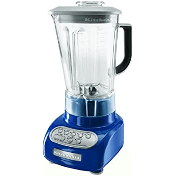 KitchenAid KSB560BW 5 Speed Blender With Polycarbonate Jar, Blue Willow