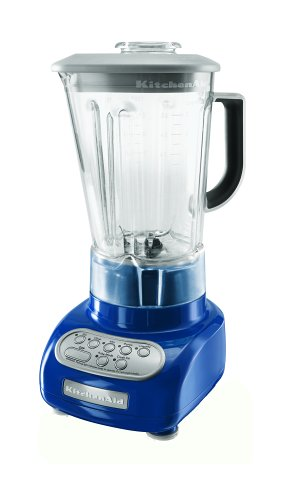 KitchenAid KSB560BW 5-Speed Blender with Polycarbonate Jar, Blue Willow