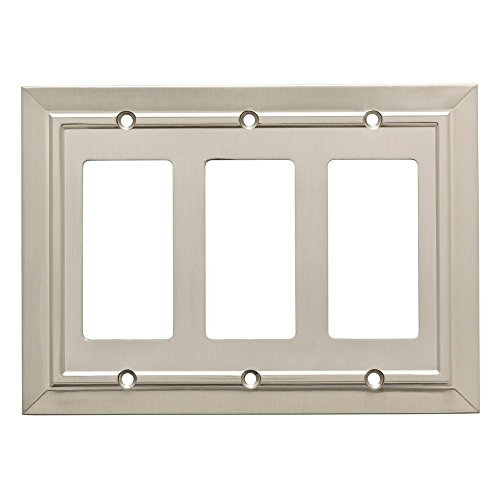 Franklin Brass W35226-SN-C Classic Architecture Triple Decorator Wall Plate/Switch Plate/Cover, Satin Nickel ()