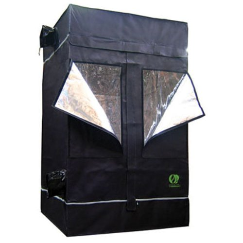 Indoor Grow Tent - 3.3 ft. x 3.3 ft. x 6.7 ft. - Thermal Protected - Multiple Intake and Exhaust Ports - Waterproof Floor - GL100 by GrowLab