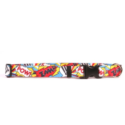 Yellow Dog Design Comic Print Break Away Cat Collar, One Size Fits All