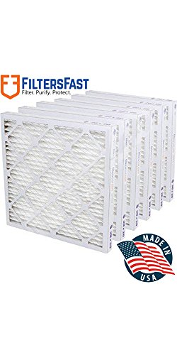 "1"" Pleated Air Filter Merv 13 - 6 pack by Filters Fast 17x22x1"