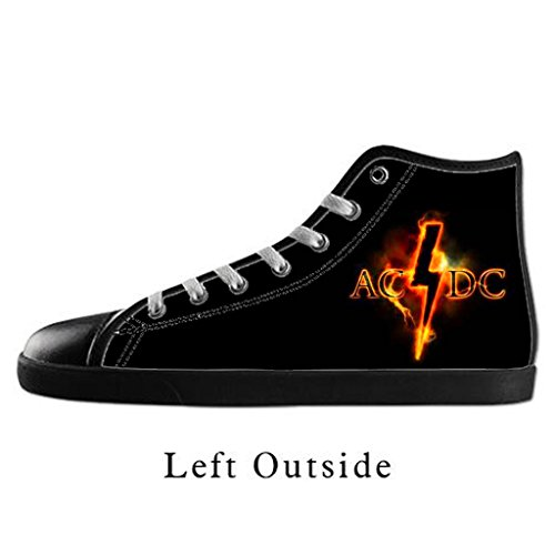 Custom Women AC DC Canvas Shoes High Top Sneakers US8