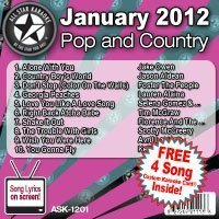 All Star Karaoke January 2012 Pop and Country Hits (ASK-1201) by Jake Owen, Jason Aldean, Foster The People, Lauren Alaina, Selena Gomez & the Sc (2012) Audio CD