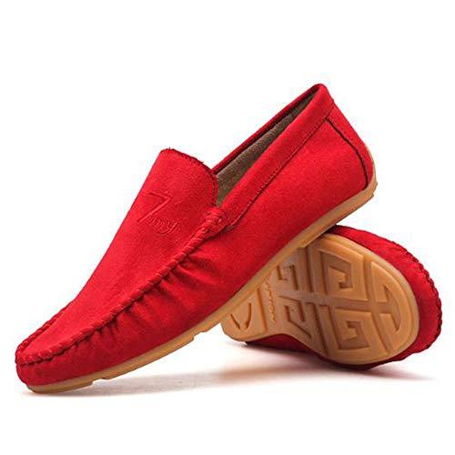 Primavera Red Ocio Mocasines Gamuza Perezosos Hombre Conducción De Para Zapatos Zapatillas 0EErvPq