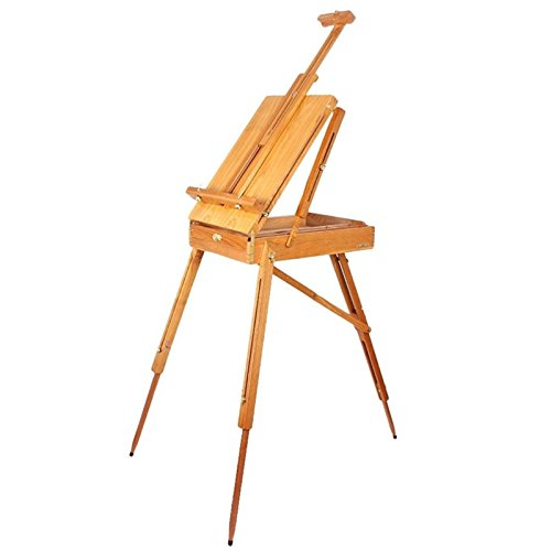 - French Easel Wooden Sketch Box Portable Folding Durable Artist Painters Tripod TKT-11