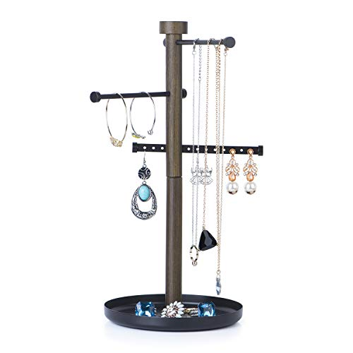 (SRIWATANA Jewelry Organizer, Sign Post Jewelry Tree Stand Necklace Holder Jewelry Holder for Earrings, Bracelets, Rings and Watches)