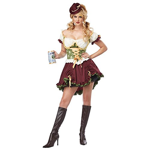 California Costumes Women's Eye Candy - Beer Garden Girl Adult, Burgundy/Green, X-Small -