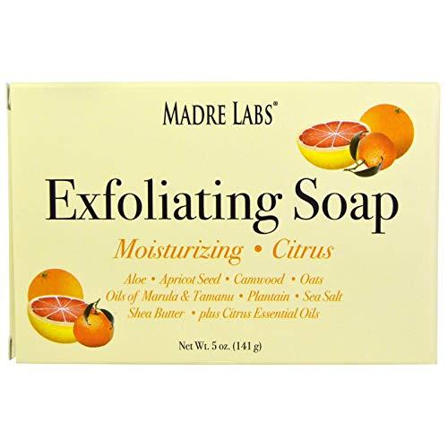 (Madre Labs Exfoliating Bar Soap with Marula Tamanu Oils Plus Shea Butter Citrus 5 oz 141 g)