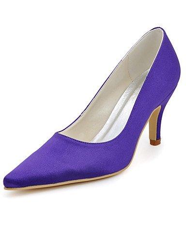 pie 3 del de de boda amp; dedo 3 púrpura de en nbsp;noche punta seda fiesta aguja tacones la del vestido talones mujeres purple de YHUJI purple 3in 4in 4in 3 3 zapatos las GGX 3in talón 6wpUZ