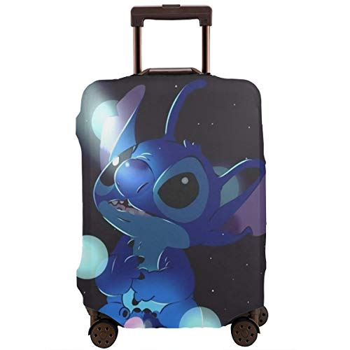 Anime Stitch Travel Luggage Cover Suitcase Protector Washable Baggage Luggage Covers Zipper Fits 22-24 Inch
