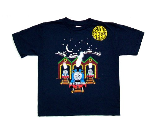(Thomas the Tank at the Station Glow in the Dark (Size 3T/Navy Blue))