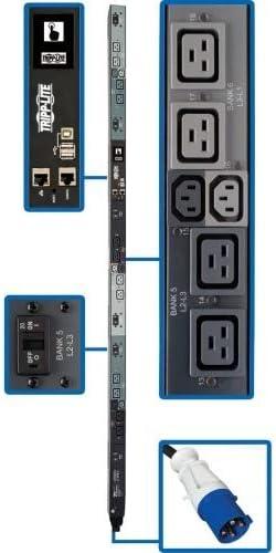Tripp Lite PDU 3 Phase Swchd 16.2Kw 208V 6 C13 Blue