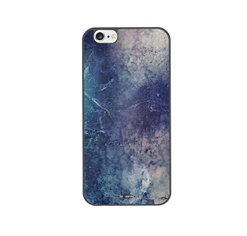 DH-hoping (TM) cell phone case for Iphone 6 plus 5.5 High Impackt Combo Soft Silicon Rubber Hybrid Hard Pc & Metal Aluminum Protective Case with Color inkjet canvas Luxurious Pattern(Black)