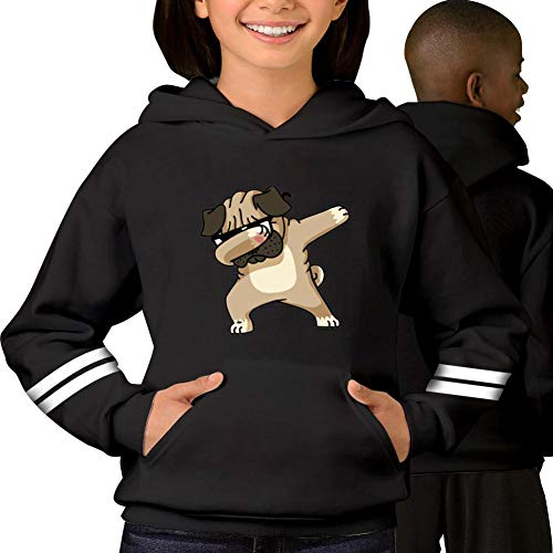 Ugly Christmas Shar Pei Pug Teen Hoodie Hooded Sweaters Printed Cotton Pocket Youth Kids Sweatshirt Tops