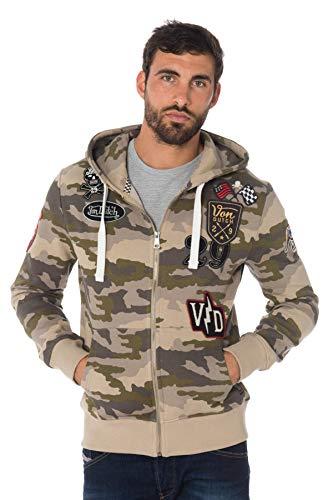 Vondutch Capuche Homme Dutch À Sweat Billy Zippé Von Camouflage xwwOH0qC