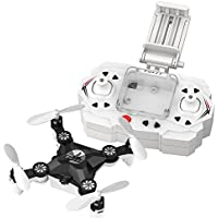 Remote-controlled Rechargeable Mini Quadcopter Rotatable Motor Arm Helicopter Wifi FPV Drone with HD Camera Foldable Pocket Aircraft (black)