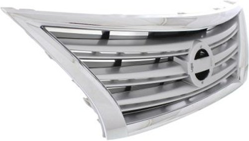NI1200252 CPP Chrome w// Silver Insert Grille for 2013-2015 Nissan Sentra