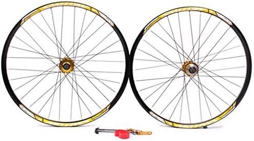GXFWJD 自転車ホイール26インチ MTB 自転車ホイールセット ディスクブレーキ ダブルウォールリム QR ボールベアリング ために カセットハブ 8-11速度
