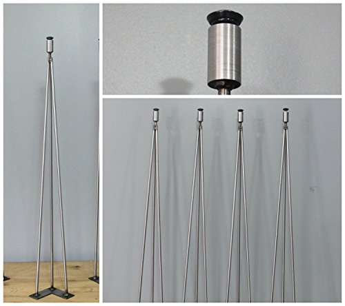 Steel Leg Hairpin Leg Leveling, 3 Rod Pin Leg, 3-Rod Hairpin, Table Legs, Steel Leg, Free Shipping, Ships within 48 hrs