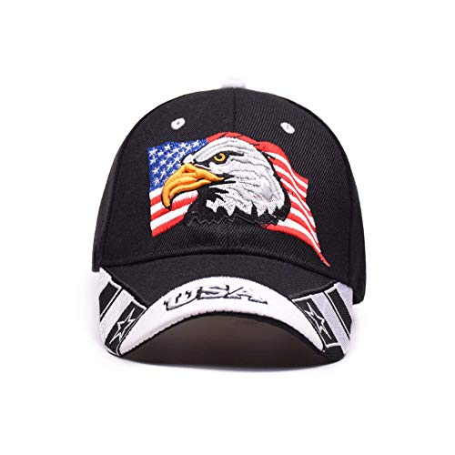 USA Flag Eagle Embroidery Pattern Cap Sun hat Classic Baseball Cap hat (Eagle Flag Embroidery)