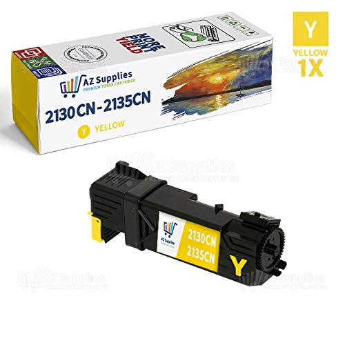 (AZ SUPPLIES Toner | 30% more Print Performance | as a Replacement for Dell 2130 (T108C) Yellow  Toner Cartridge for use in Dell 2130cn Dell 2135CN Printers)