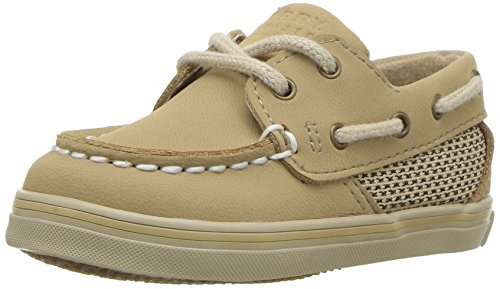 Sperry Top-Sider Intrepid Crib 10/25 Boat Shoe (Infant/Toddler),Linen/Oat,3 M US Infant ()
