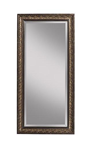 - Sandberg Furniture Cognac Ash Full Length Leaner Mirror,