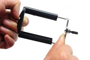 Ckeyin®; 1/4 soporte ajustable con tornillo universal para móviles para trípode o Selfie Stick / Palo para Selfies (Ancho: 5.5-8.5 cm)