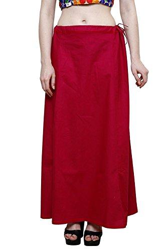 Aurielle Rogisse Mujer India Sari Algodón Enagua Bollywood Solid Inskirt Costuras Forro Enaguas Rani Pink