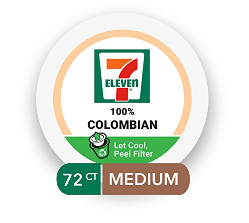 7-Eleven 100% Columbian Coffee Keurig Segregate Serve RealCup Pods, 72 Count (6 boxes of 12 Pods)