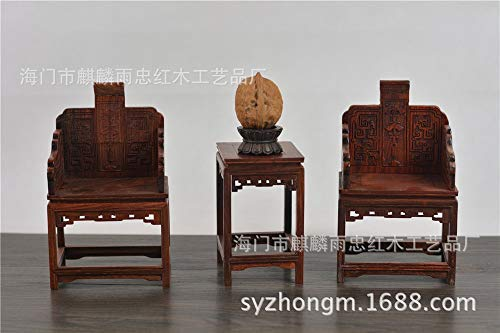 ZAMTAC Miniature Mahogany Furniture and Rosewood Palace Chair Miniature Furniture