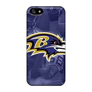 For Ipod Touch 5 Phone Case Cover - Slim Fit Protector Shock Absorbent Cases (baltimore Ravens)