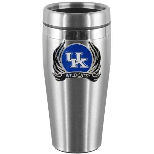 - NCAA Kentucky Wildcats Steel Travel Mug with Flame Logo