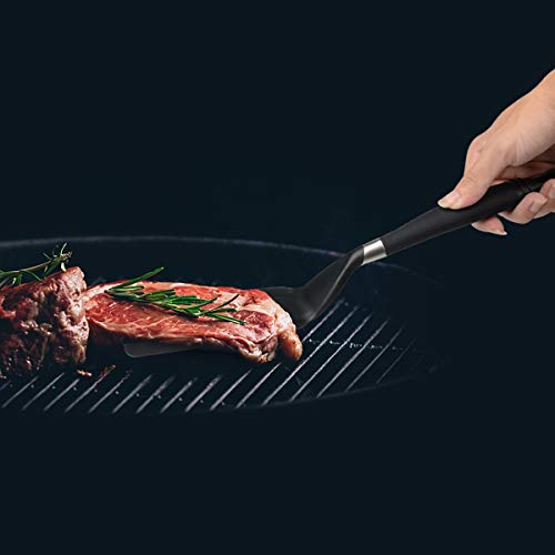 iNeibo Nylon Spatula, Slotted Turner, Durable Flexible Nonstick Non-Scratch Kitchen Utensils, BPA Free Cooking Utensils Tools(S)