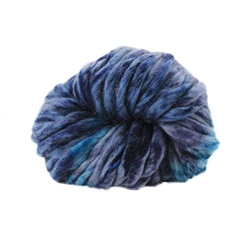 Vibola Merino Wool Yarn Super Soft Worsted Smooth Chunky Knitting Yarn Bulky Arm Knitting Wool Roving Crocheting DIY For Chunky Blanket Hand Knitted Hat Scarf (P, 250g)