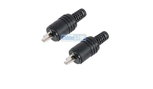 2 pin DIN altavoz Hi-Fi Cable con conector de Audio 2 unidades ...