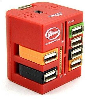 CIBOU multifunction USB HUB computer,USB adapter converter and Multi-Card Reader Mugic Cube