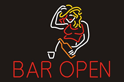 Individualized Custom Design Beer Neon Sign 19w x 15h, Handmade Glass Tube Neon Light Sign for Home Bar Pub Game Room and Recreation Decor Gifts