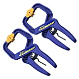 SM SunniMix 2 Pieces 24Inch(100mm) Opening End Plastic Spring Clamp Clip Wear Resistant